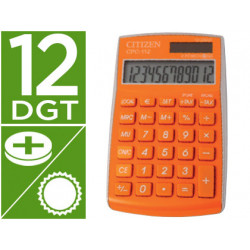 Calculadora citizen bolsillo cpc112orwb 12 digitos naranja serie wow