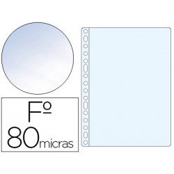 Funda multitaladro esselte folio polipropileno 80 mc cristal caja de 100 un