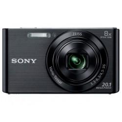 Camara digital sony dscw830b negra 201 mpx zoom optico 8x graba video hd 7