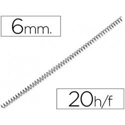 Espiral metalico qconnect 56 41 6mm 1mm caja de 200 unidades
