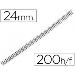 Espiral metalico qconnect 56 41 24mm 12mm caja de 100 unidades