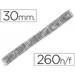 Espiral metalico qconnect 56 41 30mm 12mm caja de 50 unidades