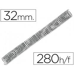 Espiral metalico qconnect 56 41 32mm 12mm caja de 50 unidades
