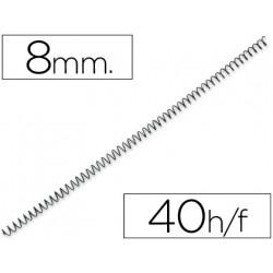 Espiral metalico qconnect 64 51 8mm 1mm caja de 200 unidades