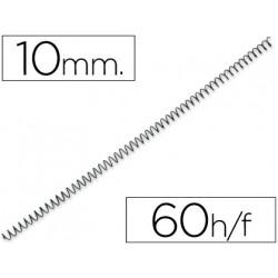 Espiral metalico qconnect 64 51 10 mm 1mm caja de 200 unidades