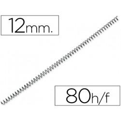 Espiral metalico qconnect 64 51 12 mm 1mm caja de 200 unidades