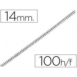 Espiral metalico qconnect 64 51 14 mm 1mm caja de 100 unidades