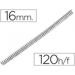 Espiral metalico qconnect 64 51 16mm 12mm caja de 100 unidades