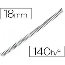 Espiral metalico qconnect 64 51 18mm 12mm caja de 100 unidades