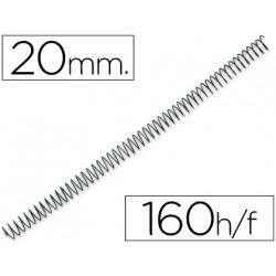 Espiral metalico qconnect 64 51 20mm 12mm caja de 100 unidades
