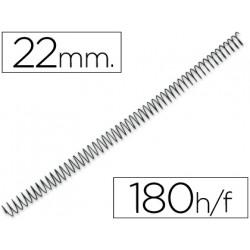 Espiral metalico qconnect 64 51 22mm 12mm caja de 100 unidades