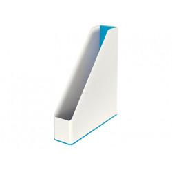 Revistero plastico leitz wow dual azul metalizado