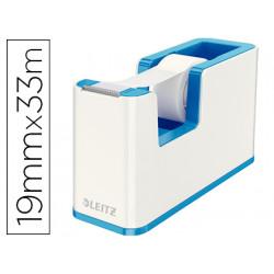 Portarrollo sobremesa leitz wow dual plastico para cinta de 33 m azul metal