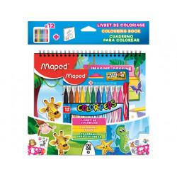 Kit de actividades maped jungla 12 rotuladores color peps + cuaderno de col