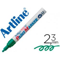 Rotulador artline marcador permanente ek400 xf verde punta redonda 23 mm