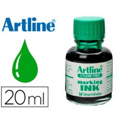 Tinta artline verde para rotulador pizarra blanca 500a frasco de 20 ml