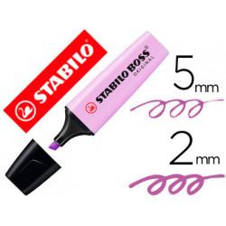 Rotulador stabilo boss pastel fluorescente 70 brisa violeta