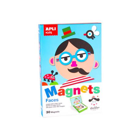 Juego apli didactico magnetico caras design by stocklina 30 piezas