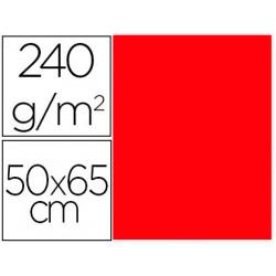 Cartulina liderpapel 50x65 cm 240g/m2 rojo paquete de 25 unidades