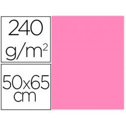 Cartulina liderpapel 50x65 cm 240g/m2 rosa paquete de 25 unidades