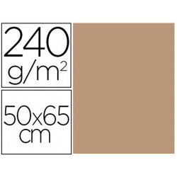 Cartulina liderpapel 50x65 cm 240g/m2 sepia paquete de 25 unidades