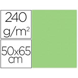 Cartulina liderpapel 50x65 cm 240g/m2 verde paquete de 25 unidades
