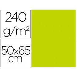 Cartulina liderpapel 50x65 cm 240g/m2 verde pistacho paquete de 25 unidades