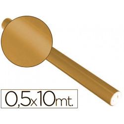 Papel metalizado cobre rollo continuo de 05 x 10 mt
