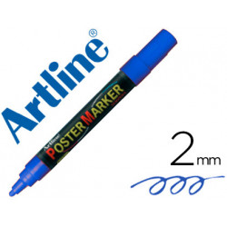 Rotulador artline poster marker epp4azu punta redonda 2 mm color azul