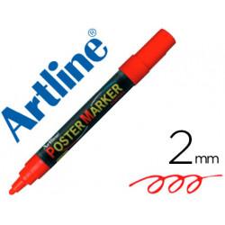 Rotulador artline poster marker epp4roj punta redonda 2 mm color rojo