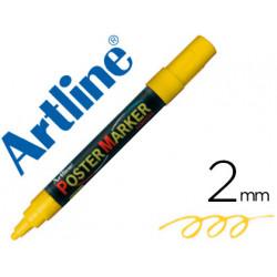Rotulador artline poster marker epp4ama flu punta redonda 2 mm color amar