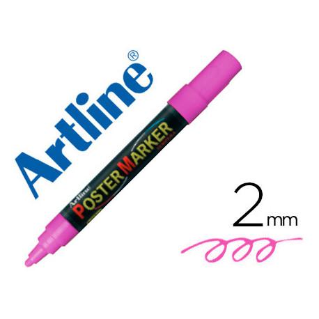Rotulador artline poster marker epp4ros flu punta redonda 2 mm color rosa