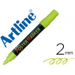 Rotulador artline poster marker epp4ver flu punta redonda 2 mm color verd