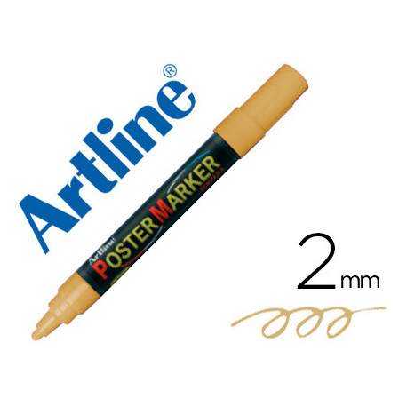 Rotulador artline poster marker epp4oro met punta redonda 2 mm color meta