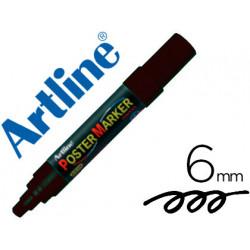 Rotulador artline poster marker epp6neg punta redonda 6 mm color negro