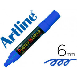 Rotulador artline poster marker epp6azu punta redonda 6mm color azul