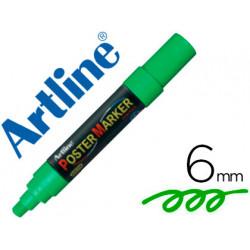 Rotulador artline poster marker epp6ver punta redonda 6 mm color verde