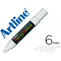 Rotulador artline poster marker epp6bla punta redonda 6 mm color blanco