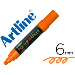Rotulador artline poster marker epp6nar flu punta redonda 6 mm color nara