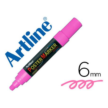 Rotulador artline poster marker epp6ros flu punta redonda 6 mm color rosa