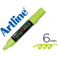 Rotulador artline poster marker epp6ver flu punta redonda 6 mm color verd
