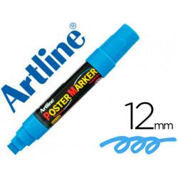 Rotulador artline poster marker epp12azu punta redonda 12 mm color azul