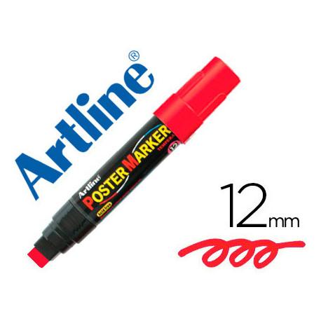 Rotulador artline poster marker epp12roj punta redonda 12 mm color rojo