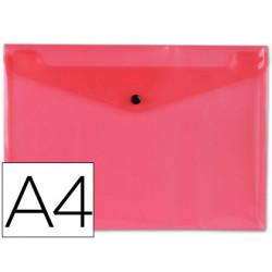 Carpeta liderpapel dossier broche polipropileno din a4 rosa transparente 50