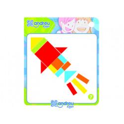 Juego andreutoys formas geometricas colores 42 piezas + 24 plantillas 286x