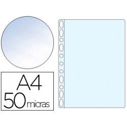 Funda multitaladro qconnect din a4 50 mc cristal bolsa de 10 unidades
