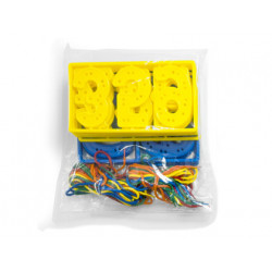 Juego miniland numeros para coser 7 cm 40 piezas + 20 cordones