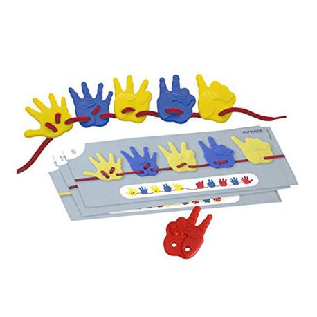 Juego miniland activity hands 36 piezas + 5 cordones