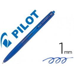 Boligrafo pilot supergrip g azul retractil sujecion de caucho tinta base de