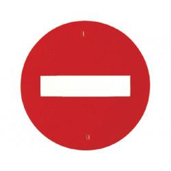 Señal de trafico entrada prohi bida amaya con engarce para ladrillo o cono
